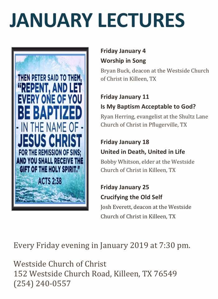January 2019 Lectures Flyer